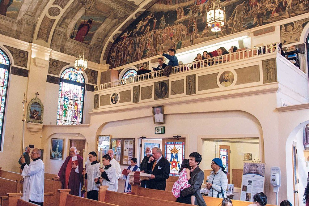Our Lady of the Rosary in Little Italy holds a Latin Mass with Gregorian chant on the second Sunday of the month at 4 pm.