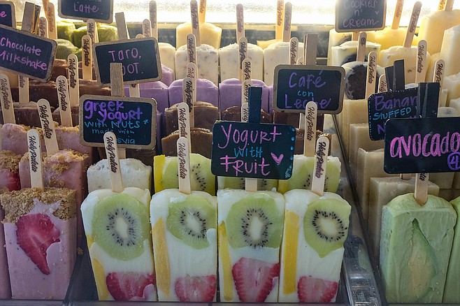 Dairy based pops at Holy Paleta