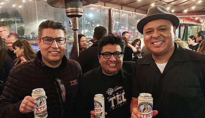 Xteca founders Fred Sotelo, Mario Lopez, and Xavier the X-Man