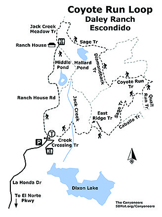 Coyote Run Loop Daley Ranch map