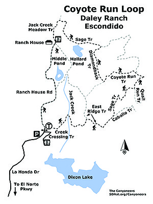 Coyote Run Loop Daley Ranch map