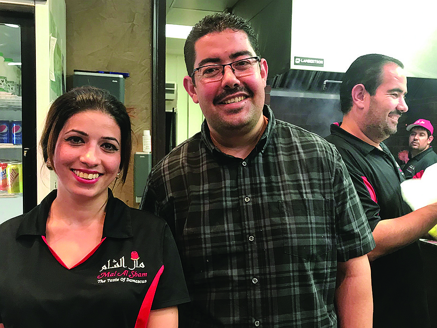 Hiba and manager Hussein