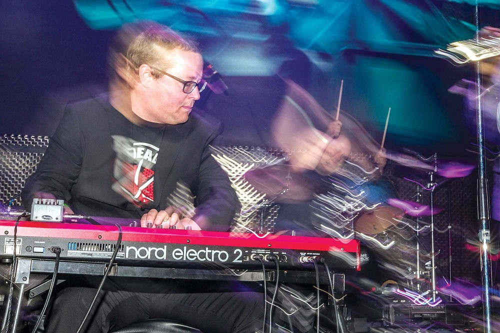 Tim Felten played keyboards with Jake Najor and the Moment of Truth at the Music Box earlier this month