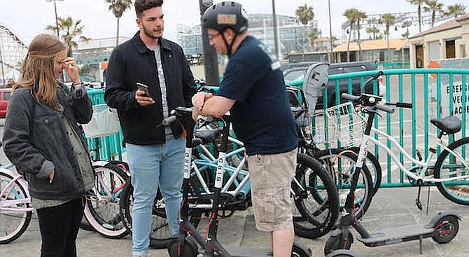 """Scooters in San Diego. """"This data can be used to determine the identity of real people."""""""