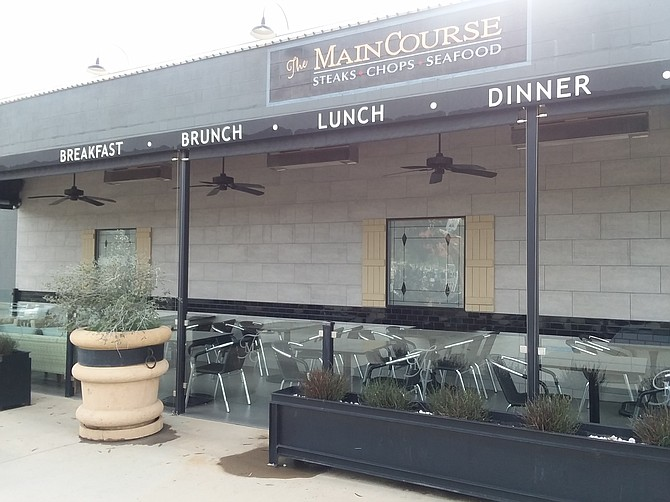There is plenty of seating at The MainCourse in Ramona.