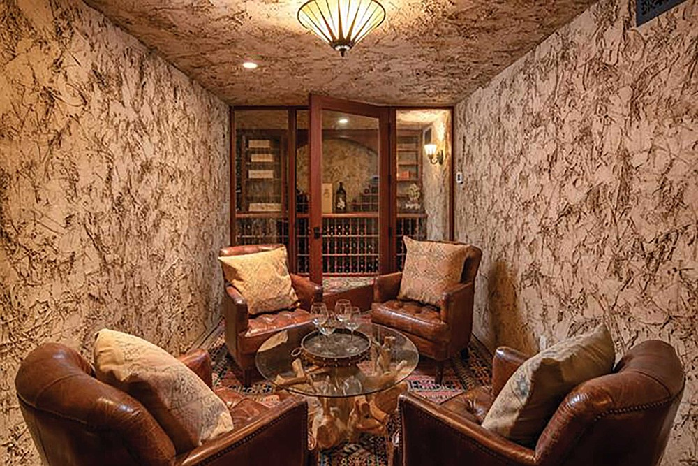 "The wine cellar in one of the nation's ""top 10 homes"""