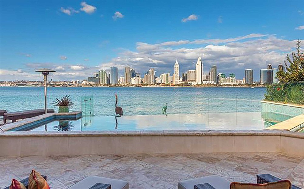 Downtown's skyline from a private Coronado patio