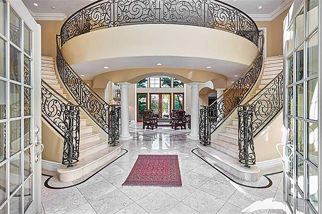 Carmona's double grand staircase entryway