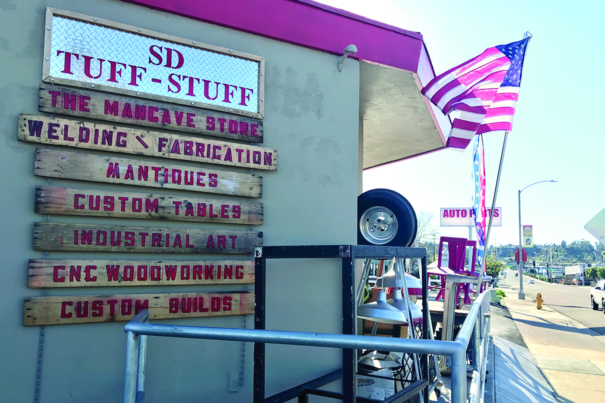 """Get your mancave """"mantiques"""" from Mylo Macario at SD Tuff Stuff"""
