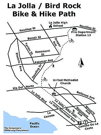 La Jolla-Bird Rock map