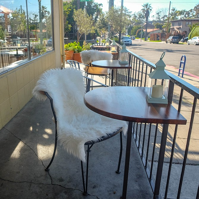 Patio chairs now have fuzzy covers
