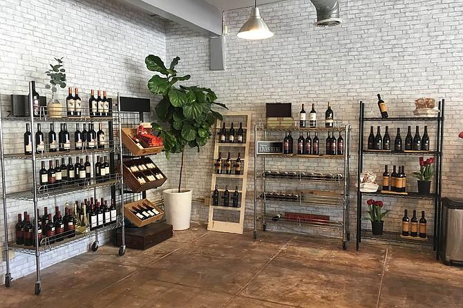 Grant's Marketplace wine corner