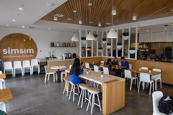 Simsim's fast casual interior design by Bells & Whistles