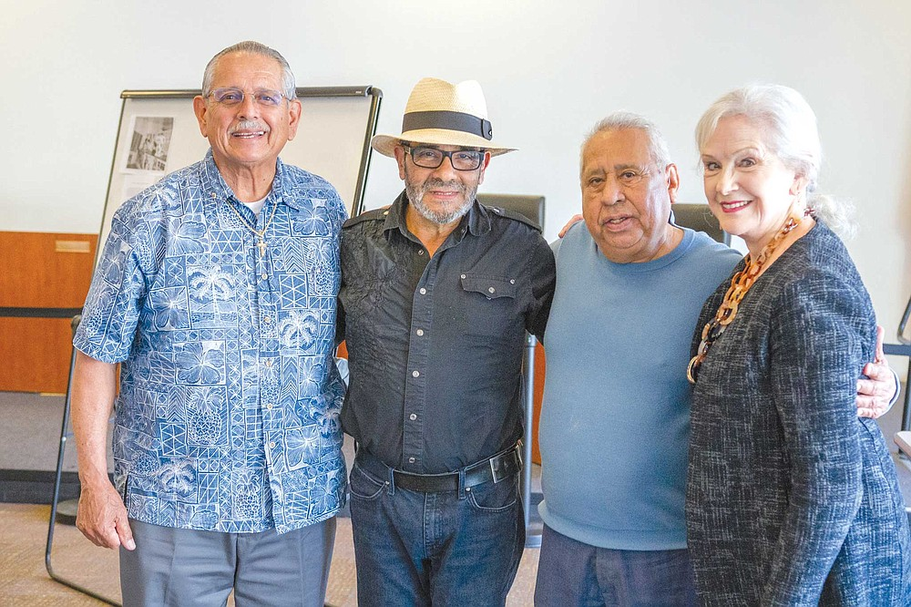 The Lemon Grove Oral History Project: George Ceseña (left), Johnny Valdez (second from right), Helen Ofield (right).