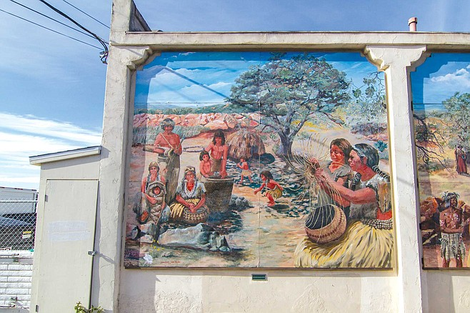 Lemon Grove Baking Company mural panel 1: the Kumeyaay