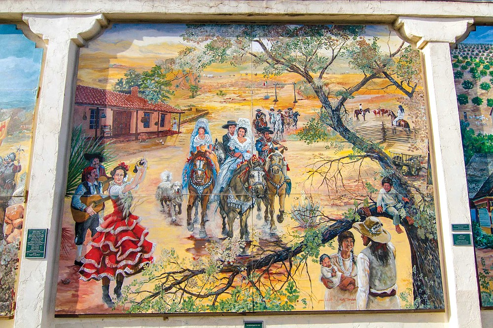 Lemon Grove Baking Company mural panel 3: the Rancheros