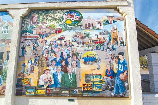Lemon Grove Baking Company mural panel 5: Today's Suburban Hub