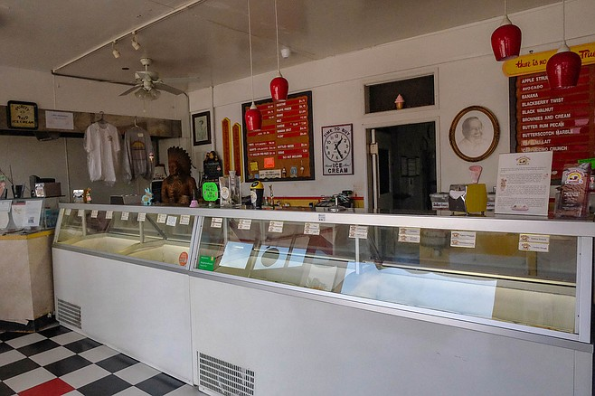 An old-school ice cream factory and counter in National City
