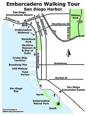 Embarcadero Walking Tour map