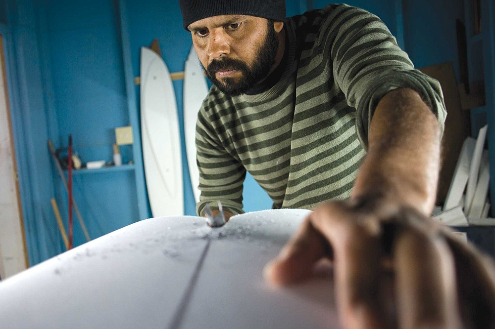 Ricardo Garcia in his Ensenada shaping room.