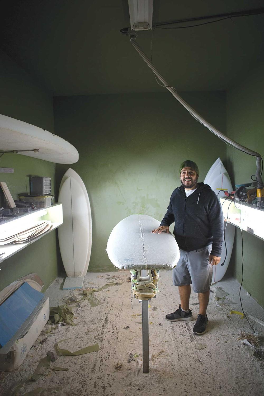 Rodrigo Orozco in his Ensenada factory.