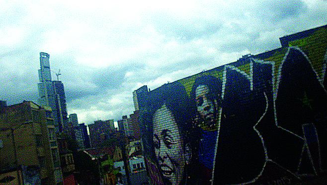 Graffiti mural in the Candelaria neighborhood.