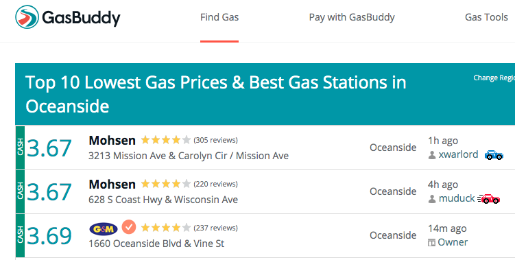 Best Gas Prices & Local Gas Stations in San Diego County CA