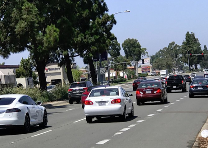 Along Mira Mesa boulevard is where accidents occur, but it doesn't appear to be on the city's list either.