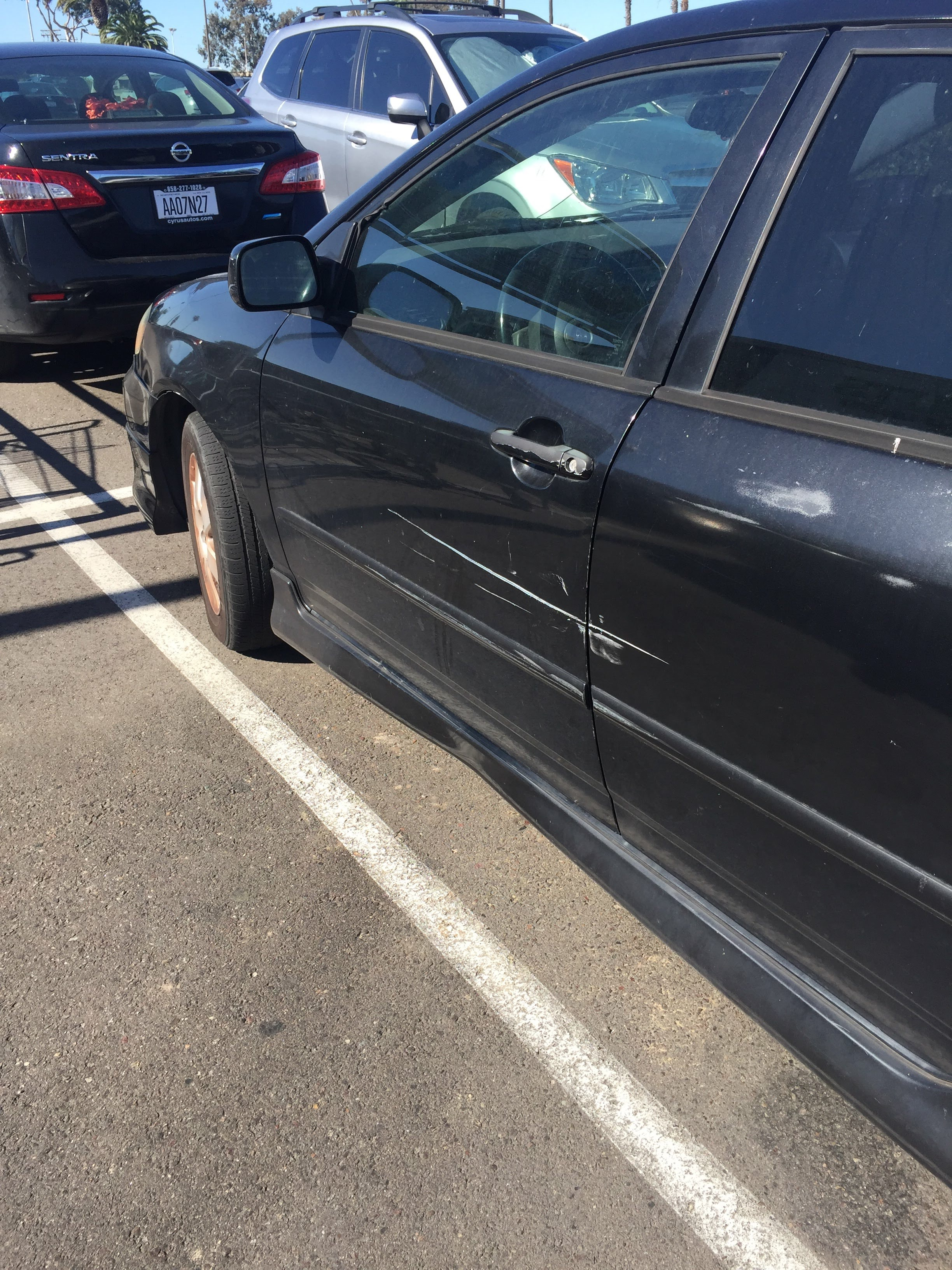 Hit and run at Sprouts.