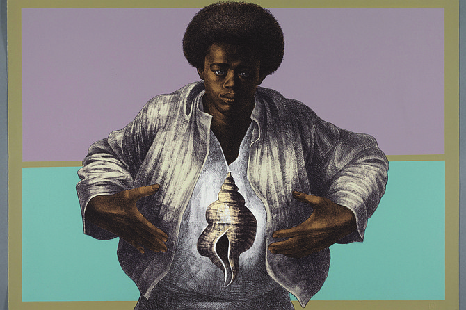 Charles White, Sound of Silence, 1978, The Art Institute of Chicago, Margaret Fisher Fund, 2017.314, © The Charles White Archives, photo © The Art Institute of Chicago