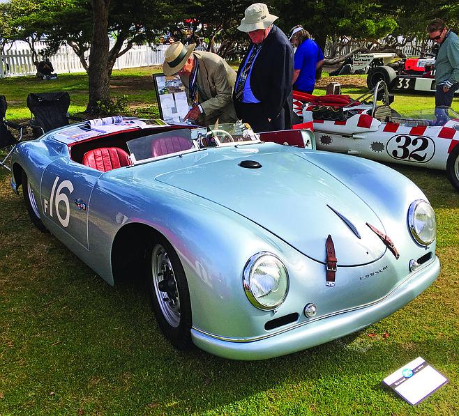 White's singular Porsche.