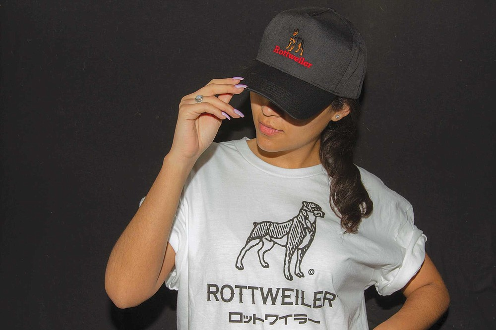 Rottweiler is a local brand with hip-hop roots that Rowley carries in his shop