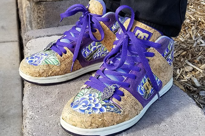 Those are some grape-looking shoes you have on!