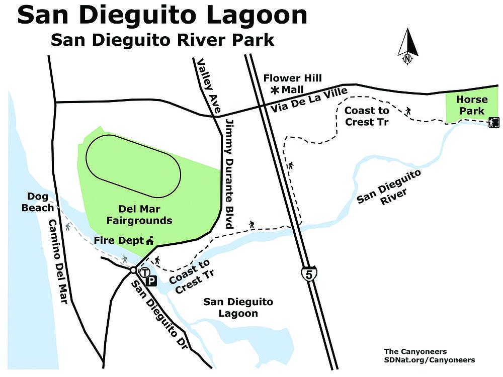 San Dieguito Lagoon map