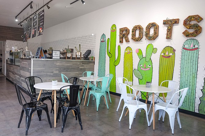 The easygoing interior of Roots Bowls