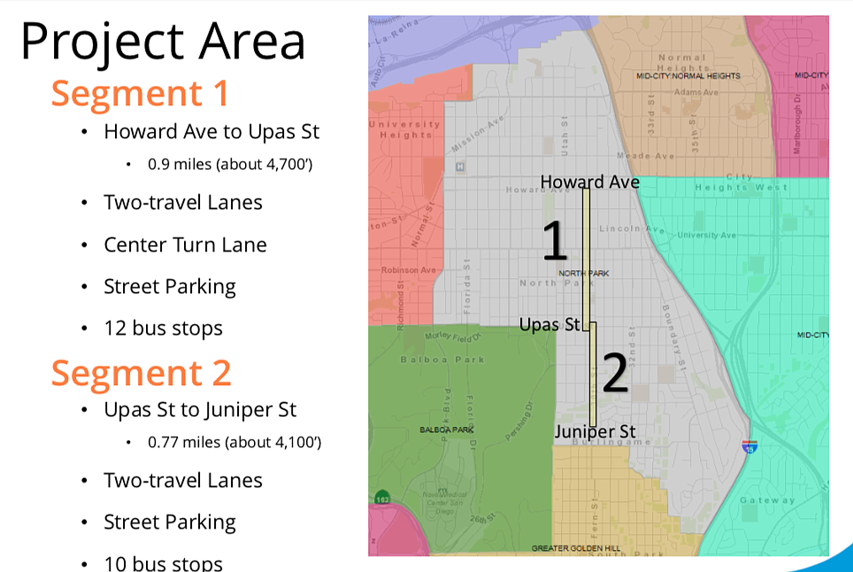 Segments 1 and 2 from the city evaluation