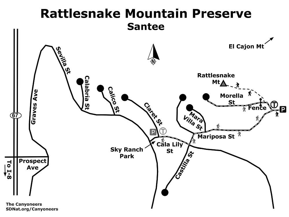 Rattlesnake Mountain Preserve map