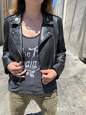 Find this leather biker jacket online for under $40 from Bershka