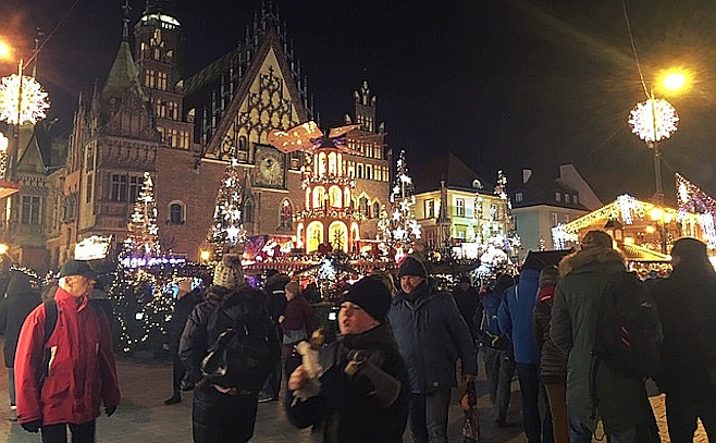 Wroclaw, Poland's Christmas Fair. The city's history dates back over a thousand years.