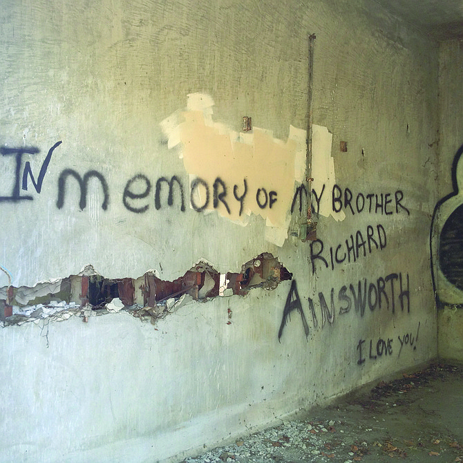 Mystery graffiti inside office of Pete Verboom