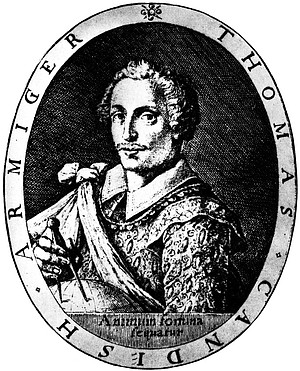 Thomas Cavendish was an English privateer who followed the example set by his famous predecessor, Sir Francis Drake, by sacking Spanish settlements up and down the Pacific coast.