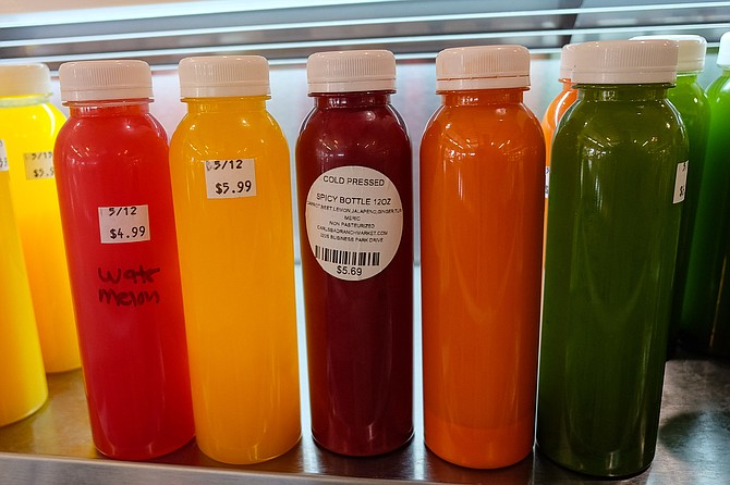 A rainbow of relatively affordable cold pressed juices