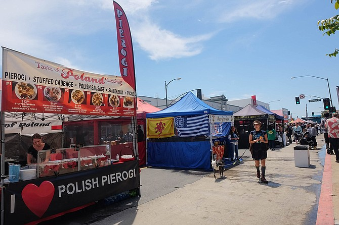 Taste of Poland serving at the Festival of Arts in North Park
