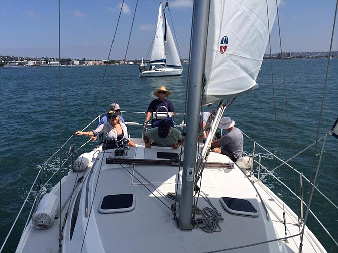 Early days of sailing San Diego Bay