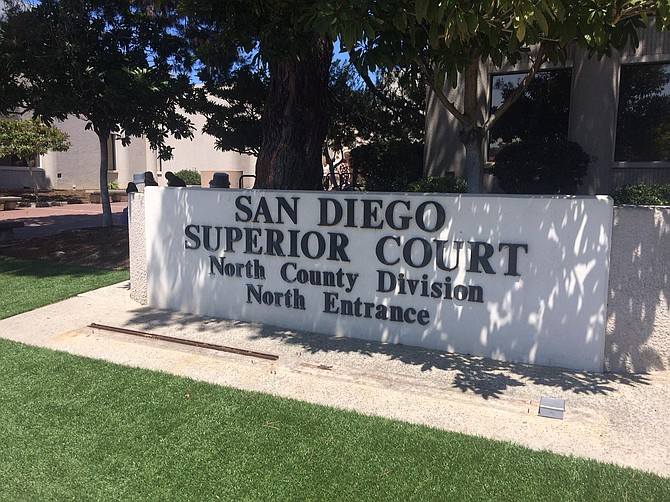Trial is on 3rd floor, dept 22 of San Diego's North County courthouse in Vista.