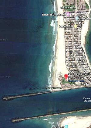 Mission Beach lifeguard coverage area