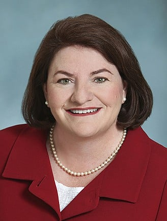 Toni Atkins is smiling because people seem to love giving her money.