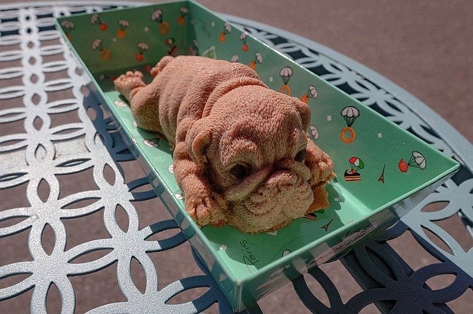 Could you eat this? Puppy-shaped mousse.