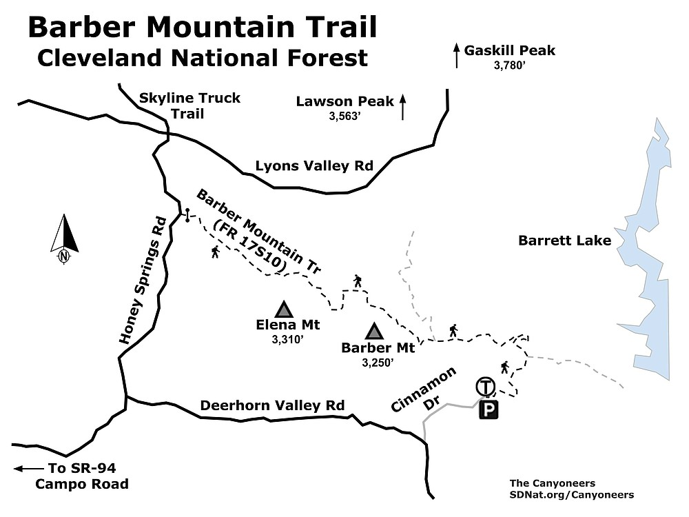 Barber Mountain Trail map