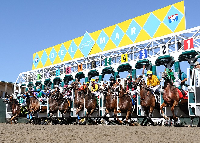 Starting gate at Del Mar